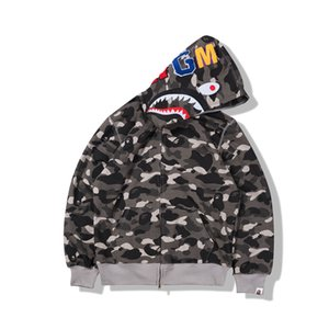 Unisex Giacche Camo design con cappuccio causale maniche lunghe con cappuccio maglione unisex di Hip Hop Streetwear Primavera Autunno Inverno Uomo Donna Giacche