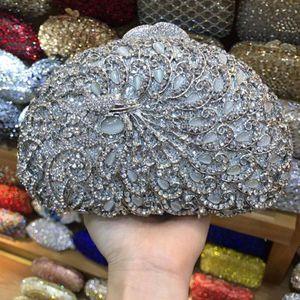 silver evening bag Luxury crystal Clutch bag gold rhinestone party purse Female pochette women wedding Day clutches lady gift