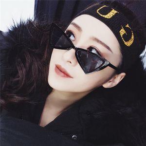 Женщины моды Марка Cat Eye Design Солнцезащитные очки ретро треугольник Bat кадров Личность Hip Hop Стиль очки Multicolor Дополнительный UV