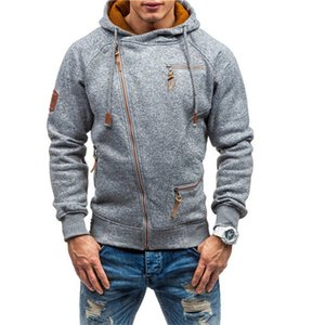New Hoodies Sweatshirts Men's Top Solid Color Cardigan Coats Hooded Sweater Jacket Fashion Hip Hop