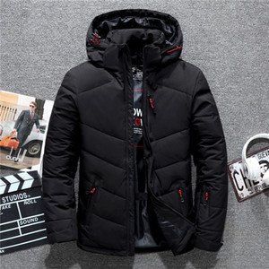 Asstseries Brand men's winter coat casual hat detachable white duck down jacket for men warm windbreaker doudoune hiver homme Y1112