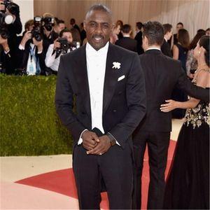 Long Customized Black Men Suit 2 pieces (Jacket + Pants) Groom Tuxedos Groomsmen Wedding Apparel Blazer Suits For Men