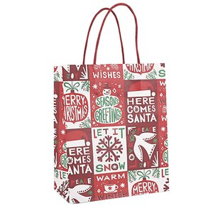 Presente de Natal Bag Kraft Saco Criativo Bronzing Bonito Dos Desenhos Animados De Embalagem De Natal Bolsas De Lona GRÁTIS DHL GWE4210