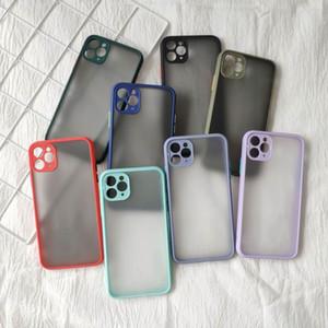 Transparent coquille trou TPU fine téléphone portable Housse de protection anti-choc souple cas coque pour iPhone 11 Protect Pro max 7 8 plus X XS