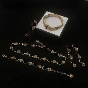 Top Produkt Armbänder für Frauenkette Halskette Ohrringe Hohe Qualität Messing Gesamtarmbänder Mode Vintage Armbänder Versorgung