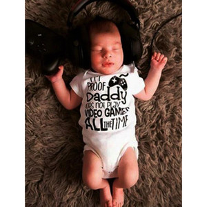 MUQGEW newborn baby girl clothes Infant Baby Girl Boy Short Sleeve Letter Romper Clothes Outfits pasgeboren kleding#y2
