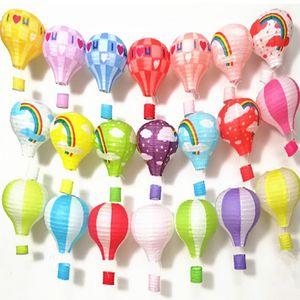 12inch Rainbow Hot Air Balloon Paper Lantern Lampshade Ceiling Light Christmas Wedding Party Bar Hanging DIY Decoration