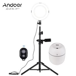 Andoer 8 pulgadas LED Vídeo Fotografía Luz del anillo de la lámpara de iluminación 3 Modos 3200-5600K regulable Luces de YouTube Live Video Recording