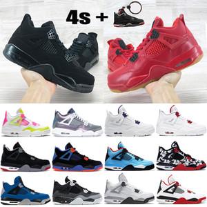 Il nuovo arrivo 4 4s mens Jumpman scarpe da basket metallico gatto nero viola bianco Limone Rosa Blu Monsoon allevati quello che gli uomini formatori scarpe da ginnastica