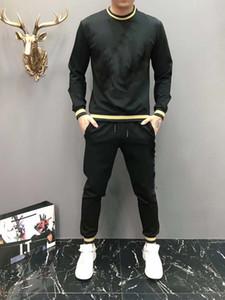 Новый зимний спортивный спортивный мужчина роскошный потные костюмы осенний бренд мужские Jogger Suits куртка брюки наборы спортивных женщин костюм хип-хоп наборы M-3XL