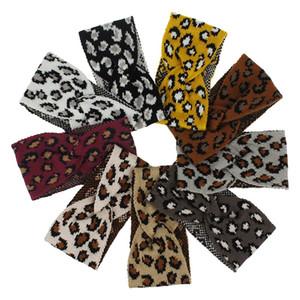 Band Skitting Band Elastic Moda Leopard Imprimir Lã De Lã Acessórios Para As Mulheres Outono e Inverno Headband 4xm K2B