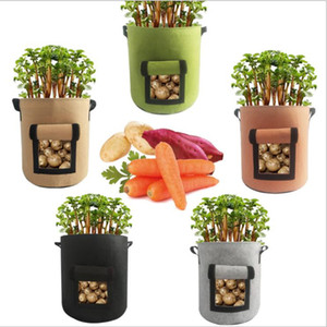 Plant Growing Bag Tomatoes Potato Grow Bags Non Woven Aeration Plant Pot Vegetables Planter Bags Home Garden Planting Accessories KKA1429