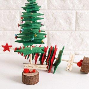 Bricolage Tissu Non Tissé Arbre de Noël Arbre de Noël Party de bureau Décoration Accueil Décoration de Noël Décorations intérieur Tf Grand Christ yzqg #