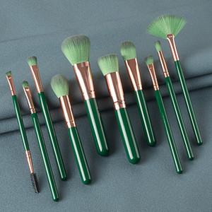 10PCS Makeup Brushes Set For Foundation Powder Blush Eyeshadow Concealer Lip Eye Make Up Brush Cosmetics BeautyCosmetic Tool Beauty Brushes
