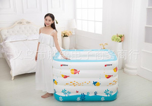 New born Baby Portable bath tub kid Inflatable Thickening Swimming ocean ball pool child bathtub 5 Layers 143x105x80cm
