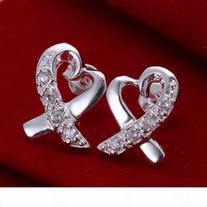 K 10 Pairs Diffrent Style Women &#039 ;S 925 Gemstone Silver Earrings Gte4 ,High Grade Wholesale Fashion Sterling Silver Stud Earrings