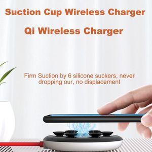 Nouveau chargeur sans fil d'aspiration d'aspiration pour iPhone XR XS Porte-tampon de chargement sans fil rapide pour Samsung Absorption sans fil DHL