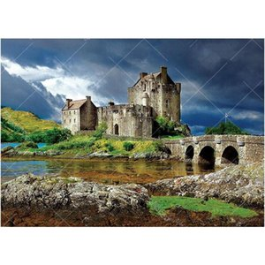 eilean donan castle scotland 5D DIY Diamond Painting landscape 3D Embroidery Cross Stitch Rhinestone Mosaic art Home Decor FG795