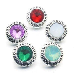 10pcs lot crystal 12mm metallo scatto bottone per braccialetto da donna in metallo bottone a scatto orecchini gioielli 011611 H BBYSBN