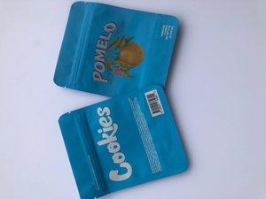 로컬 식당 가방 및 홀로그램 Mylar SF 캘리포니아 가방 3.5g 포장 Bdebaby Label Pomelo Back Stickers 쿠키 BBYUV 블루 TBFER