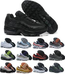 Atacado ultra 95 og x 20th aniversário homens executando sapatos esportivos 95s instrutor ar preto sola cinza azul alta qualidade sapatos de tênis