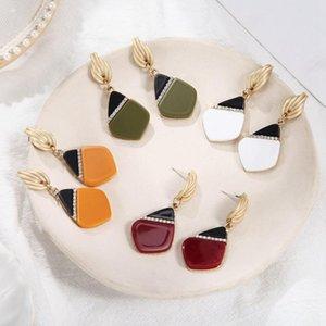 Match-Right Filles Vintage Fashion acrylique Boucles d'oreilles pour les femmes strass Goutte d'eau Boucle d'oreille en mariage Femme Bijoux SP1012
