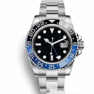 Fashion Ceramic Bezel Mens Meccanico in acciaio inox oro automatico GMT 2813 Movimento Designer Guarda Master Uomo orologi orologi da polso 2021