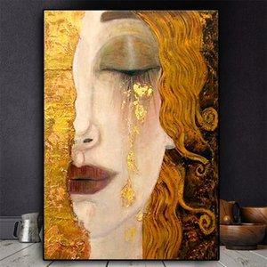 Artiste classique Gustav Klimt Therche Abstrait 5D Diamond Portrait Portrait Poster mural Mosaïque Murmade à la main Décoration de la maison 201201