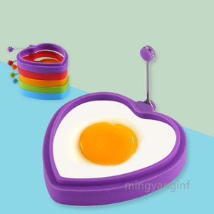 Egg Ring, Food Grade Egg Cooking Rings, Heart Pancake Mold BPA Free, Durable & Reusable Silicone Ring Eggs MY-inf0476