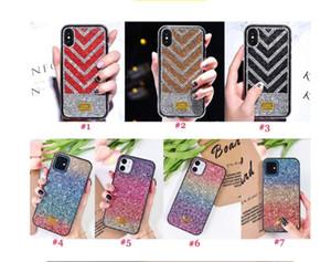 Gradient Glitter Premium Rhinestone Case Luxury Designer Women Defender Phone Case For iPhone 12 11 Pro Xr Xs Max 6 7 8 Plus