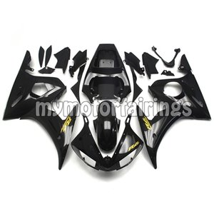 Bodywork for 2003 2004 Yamaha YZF R6 Fairing Kits YZF R6S 2006 2007 2008 2009 Cowlings YZF-600 03 04 Covers - Black with Gold Decals