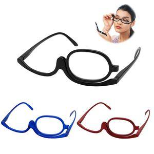 Women Magnifying Glasses Makeup Folding Eye Make Up Reading Glass Pc Frame +1.0~+4.0 Resin Lens