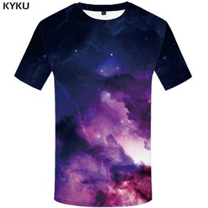 Galaxy Space T shirt Men Nebula T-shirts 3d Colorful Tshirts Casual Comic Shirt Print Gothic Anime Clothes Mens Clothing