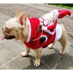 Christmas Pet Clothes French Bulldog Puppy Dog Costume Pet Jumpsuit Pug Pets Dogs Clothing for Small Medium Dogs Puppy Outfit 201114