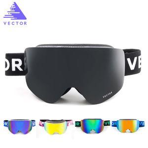 VECTOR Ski Goggles Men Women 2 Lens UV400 Anti-fog Skiing Eyewear Snowmobile Snowboard Snow Goggles Skating Mask Ski Glasses Q0107