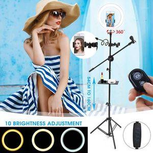 Light Light Stripod со стендом 8 шт. / Установки Bluetooth Selfie Shuttercamera Selfie Light Ring для YouTube Makeup Video Live Photogrape1