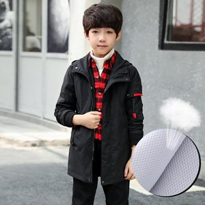 Boys Coat Autumn Childrens Long Windbreaker Spring and Autumn Childrens Hooded 2019 New Wholesale