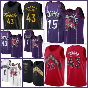 TorontoRaptoresJersey Vince 15 Carter Jersey Basketball Pascal 43 Siakam Tracy Kyle McGrady Lowry Fred 23 Vanvleet Men 2021 Nuevo