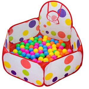 1.5M Kids Playpen Baby Pit Children Dry Ball Pool Portable Child Play Tent with Basketball Hoop Outdoor Ballenbak Toys