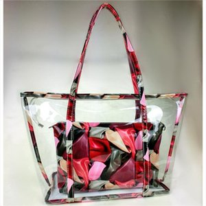 Womens Bag 2020 New Fashion Korean Baitao Summer Jelly Transparent Bag Large Capacity Hand held Beach