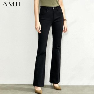 AMII Mode Freizeit Jeans Neue Slim-Farbenhose für Herbst Hohe Taille Solide Olstyle-Hose 119202081