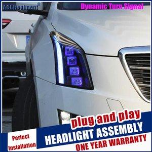 브랜드의 새로운 헤드 램프 자동차 스타일링을 위해 ATS 헤드 라이트 2014에서 2020 사이의 모든 LED 헤드 라이트 렌즈 프로젝터 DRL 동적 신호를 LED가 점등