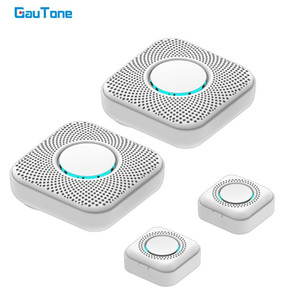 GauTone timbre inalámbrico 100m remoto LED Gama Hogar Inteligente timbre de la puerta Chime timbre inteligente 433MHz