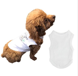 10pcs Sublimation Blank White DIY Pet Dog Sleeveless Thin Vest for Small Pet Heat Transfer Print
