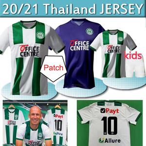 20 21 FC Groningen Soccer Jerseys Home Robben 2020 2021 Groningen Deyovaisio Zeefuik Redan Chemises de football Maillot de pied thaï