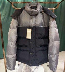 Фирменные Мужчины пуховик Дизайнер Мужской Puffy Карманный Зимняя куртка моды Boy Double Zip Воротник-стойка вниз Outwear
