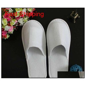 Disposable Slippers Hotel Towelling Slippers Eva Slipper Men Women Flop White Hot Sell Factory Price qylYUU packing2010