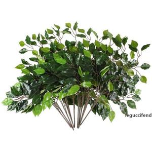 12Pcs Artificial Eucalyptus Leaves Stem Leaves Branches Fake Plants Faux Leaf Stems Shrubs Bush for Garden Wedding Decor