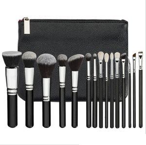 New Fashion Makeup Brush 15PCS Set Brush With PU Bag Professional Brush For Powder Foundation Blush Eyeshadow