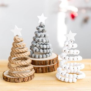 Mini Christmas Tree Decorations 2021 Christmas Tree Ins High Quality Wooden Desktop Small Ornaments Decoration